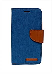 Vikrera Diary Flip Cover For Nokia Lumia 540 - Blue