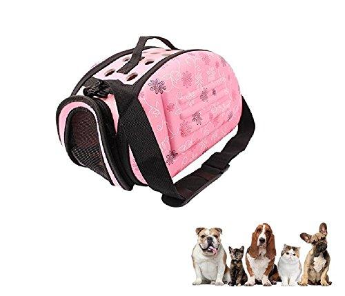 Ducomi, Transportbox Coco, Hartschale faltbar, für Hunde und Katzen bis 3kg, luftdurchlässigeTasche für den Transport, halten Ihren Hund und Ihre Katzewarm,32x 20x 22cm