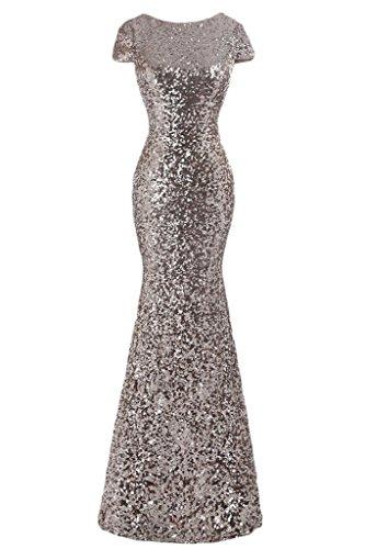 Sunvary paillette sirena Paletta per abiti da sera, abiti Homecoming Gowns Champagne