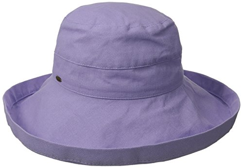 scala-womens-cotton-big-brim-hat-with-inner-drawstring-lavender-one-size