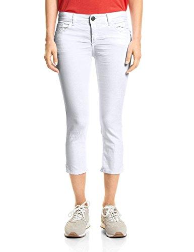 Street One Damen Slim Jeans 371336 York, Weiß (White Colourdenim 11395), W34
