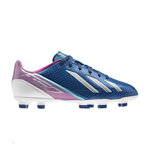 Adidas F30 TRX FG Chaussures Enfant Chaussures de football Came, modèle 2013 dark blue/vivid pink/running white