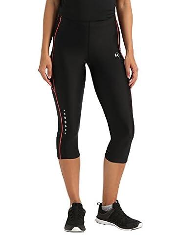 Ultrasport Damen Laufhose 3/4 lang, black dubarry, XL, 10150