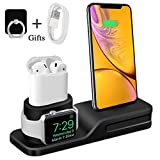 Bestrans Stand per Apple Watch, 3 in 1 Docking Station per iPhone AirPods Apple Watch Series 4/3/2/1, Supporto per iPhone XS/XR/X/8/8 Plus /7/7 Plus/6, Samsung Galaxy Huawei Xiaomi