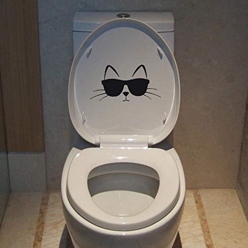 22 * 11 CM Coole Katze Mit Sonnenbrille Wc Aufkleber Wohnkultur Wandaufkleber Pet Love T4-0013