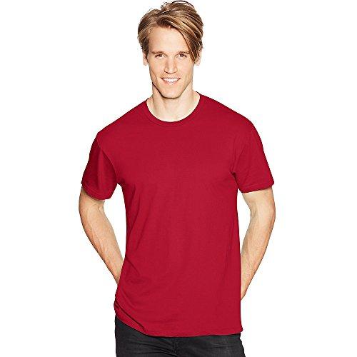 Hanes Mens Nano-T T-Shirt Deep Red