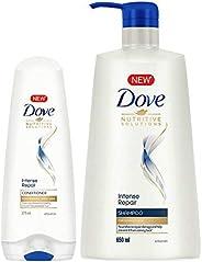 Dove Intense Repair Conditioner, 175ml + Dove Intense Repair Shampoo, 650ml