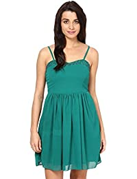 GREEN DRESS IN GGT FABRIC