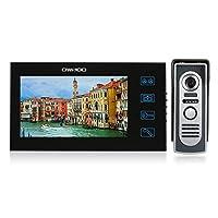 KKmoon OWSOO 7 بوصة لون باب الهاتف فيديو الباب كيت الاتصال الداخلي شاشة اللمس للماء كاميرا في الهواء الطلق الرؤية الليلية الأمن المنزلي، SY806M11