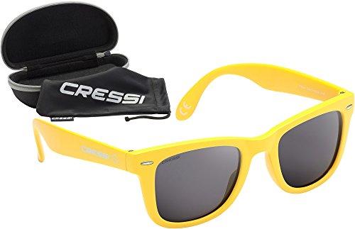 Cressi Occhiali da Sole di Alta Qualità Lenti con Filtro Solare Antiriflesso e Protezione 100% Raggi UV - Tortuga - Giallo/Grigio avzRjddTCy