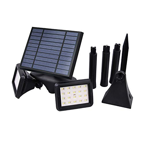 IP54 Luz solar 2 luces Radar Inducción Apliques de pared Exterior Impermeable...