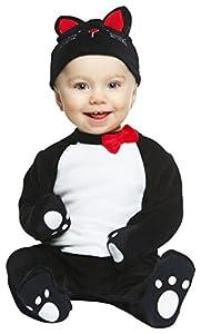 My Other Me Me-204960 Disfraz de gatito, color negro, 0-6 meses (Viving Costumes 204960)