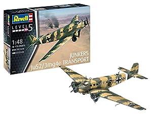 Revell- Junkers Ju52/3mg4e Transport, Escala 1:48 Kit de Modelos de plástico, Multicolor (3918)