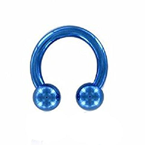 eeddoo® Color Titan - CBR Hufeisen - blau 1,6 mm 16 mm 5 mm (Ein Christina Stück Womens)
