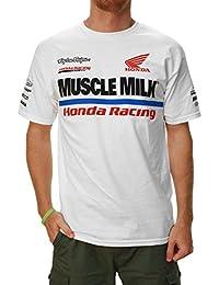 T-shirt de graphique d'équipe de Honda des hommes de Troy Lee Designs