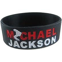eshoppee michael jackson silicone wrist band for man and women