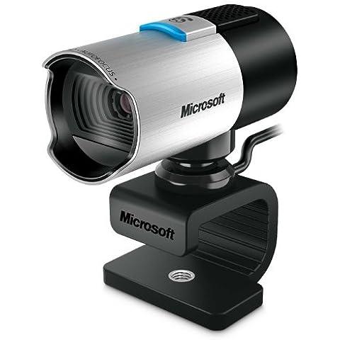 Microsoft Q2F-00016 LifeCam Studio - Webcam HD (aluminio), color plateado