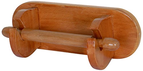 MSV 140234 Toilettenpapierrollenhalterung, Eiche/Kiefer, 23x8,3x10 cm -