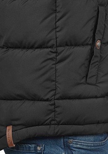 SOLID Denneb Herren Weste Steppweste Übergangsweste mit Stehkragen aus hochwertiger Materialqualität Black (9000)