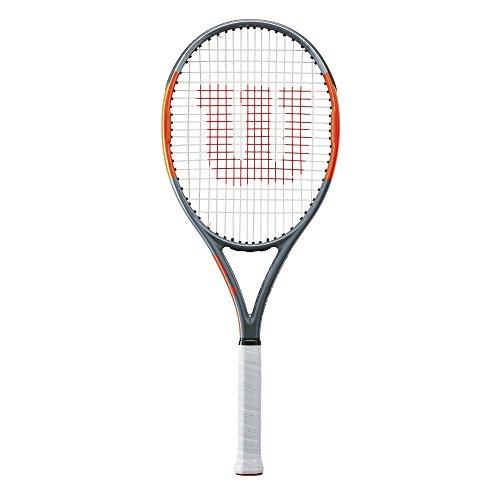 Wilson Raqueta de tenis unisex, Para jugadores de fondo, Para principiantes y jugadores intermedios, Burn Team 100 Lite, Medida 2, Gris/Naranja, WRT73890U2