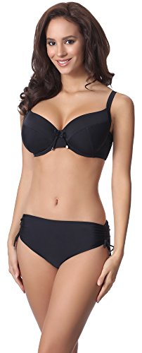 Merry Style Damen Bikini Set P61830 (Schwarz, Cup 75 D/Unterteil 38)