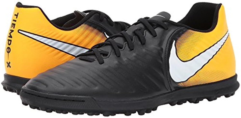 Nike TIEMPOX RIO IV TF - Zapatillas de fútbol, Hombre, Negro - (Black/White-Laser Orange-Volt)