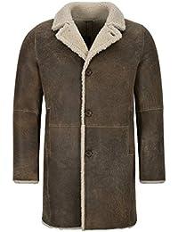 456b4a474f24 Smart Range Leather Cappotto in Pelle di Montone da Uomo, 3/4, Caldo