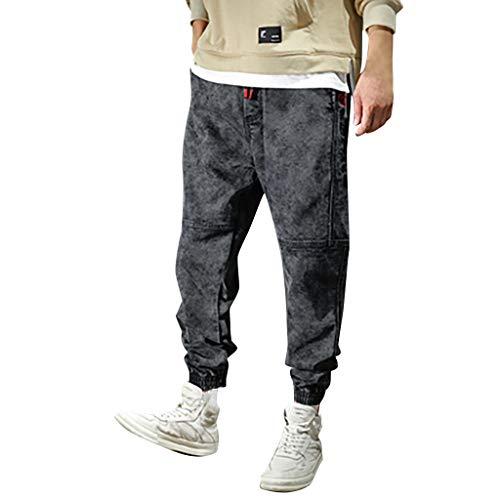Dasongff Herren Jogginghose Cargohose im Haremstil Jeans Haremshose Hip Hop Hosen Trousers Locker Chinohose Streetwear Cargo Jogging Pants -