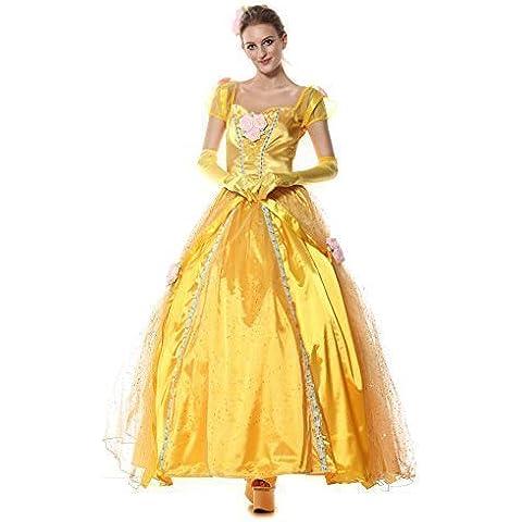 Mujer largo TBF la Bella y la bestia Belle Princesas Carnaval Disfraz Outfit
