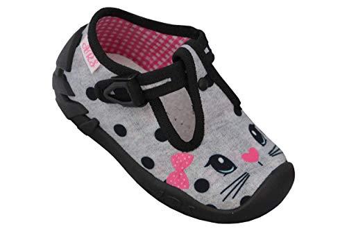 Ars pantofole bambina scarpe per bambini ragazza carino broccato - stili diversi – transpirante - bimbo bambina calzature dimensione 20-25 (22, grigio - gatto)