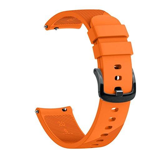 pour Garmin Forerunner 645,20mm en Silicone Bracelet de Montre Quick Release Universel pour Les Hommes et Les Femmes (Orange, S: 71mm + 110mm)