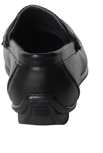 Kinderehe Mokassin schwarze runde Zehe Farbe Schwarz