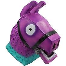 yacn fortnite Rainbow Horse Lama Disfraz de Deriva de máscara para Halloween Cosplay