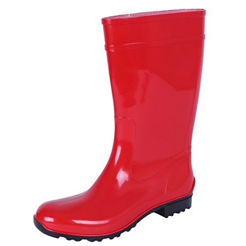 Lemigo Ladies, Red, PVC, Wellies, Wellington, Rain Boots ILSE