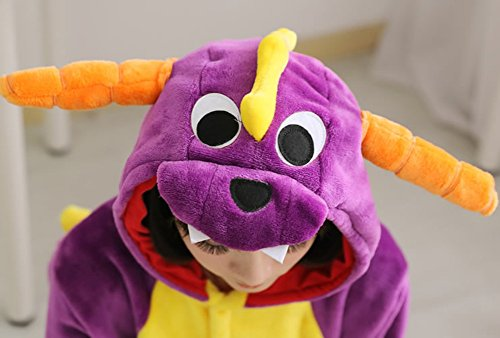 Molly Unisex Adulto Kigurumi Pigiama Cosplay Costume Animale Pigiama Porpora Drago
