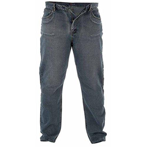 Duke Herren Rockford Kingsize Komfort Fit Jeans Dirty Denim