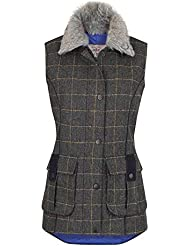 Jack Murphy Womens/Ladies Jilly británico Tweed país Bodywarmer–Chaleco para mujer, color Country Green, tamaño 18