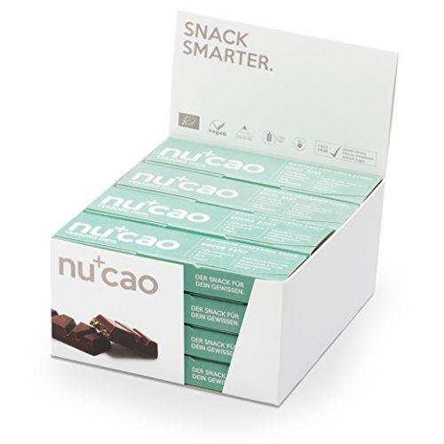 Bars Nu Protein (nucao – Kokos Zimt – Innovativer Superfood-Riegel mit Hanfsamen & Roh-Kakao – Low Carb – Vegan – Bio – Clean Eating – Paleo – 16er Box – Hergestellt in Deutschland)
