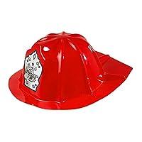 WIDMANN CHILD SIZE Boys PVC FIREMAN HAT RED Accessory for Fireman Firefighter Fire Fancy Dress Childs Kids