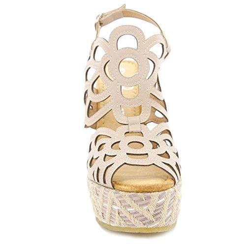 Toocool - Scarpe donna sabot sandali comodi tacchi alti plateau nuovi Queen Helena ZM25149 Rosa