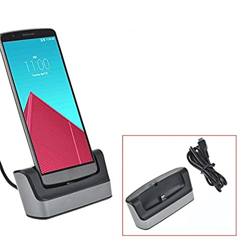 VIMVIP 5V 2A USB Data Sync Desktop Charging Cradle Dock Docking Station Stand for Samsung Galaxy S7 Edge (Silver)
