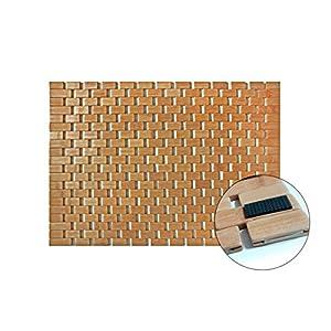Liveinu Alfombrilla De Baño Bambú con Antideslizante Resiste Manchas, Olores y Bacterias Alfombra De Baño Ducha para SPA Sauna 40x60cm