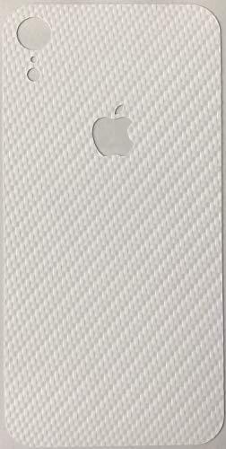 TKCase iPhone XR Skin Schutzfolie Rückseite Aufkleber Wrap Carbon,Shadow. (Carbon Weiß)