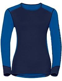 Odlo Damen Shirt L/S Crew Neck Warm Revelstoke Ski-Unterhemden