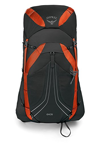 Osprey Exos 48 Men's Lightweight Hiking Pack - Blaze Black (LG)