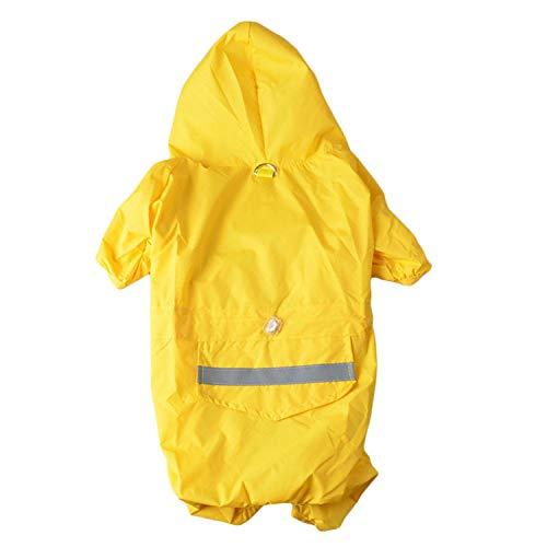 Römisch Kostüm Tag - GJJ Kleidung für Haustiere, Hunderegenmantel, Poncho, Wasserdichte Jacke für Haustiere, Kleiner Hundevier, Schnauzer-Sommerregenmantel, geeignet für regnerischen Tag im Freien Null/Gelb/XS