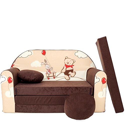 Barabike K26-a pour Enfant Canapé bébé Canapé Mini Canapé Canapé lit Pouf Lot de 3 en 1 d'oreillers en Mousse