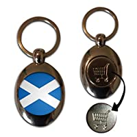 Scotland Flag - £1/€1 Metal Shopping Coin Token Key Ring