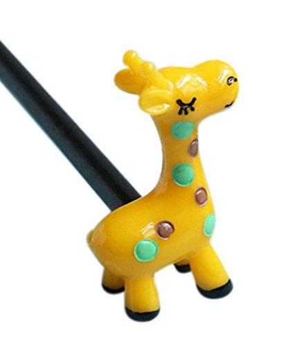2 morceaux de Cartoon Bricolage Bois Accessoires cheveux, de girafe