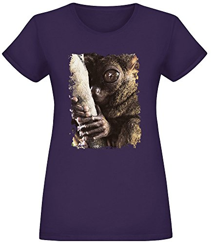 Tarsier Baum Hugger - Tarsier Tree Hugger T-Shirt Top Short Sleeve Jersey for Women 100% Soft Cotton Womens Clothing XX-Large -